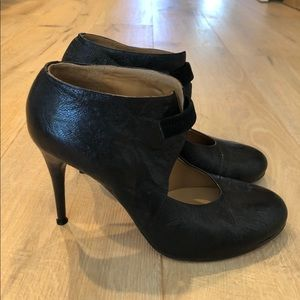 CHLOE black leather ankle boots